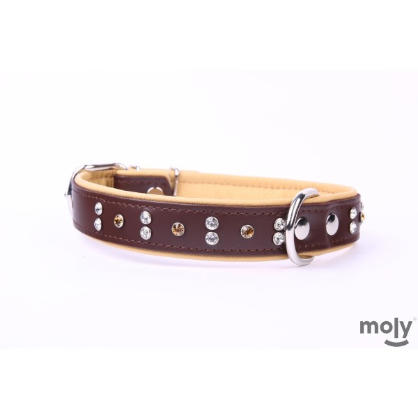 COLLAR PIEL LUXURY CRISTAL 56 CM