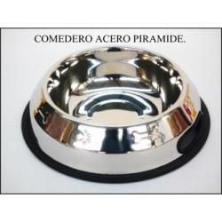 COMEDERO ACERO PIRAMIDE 18cm X 0,90 l